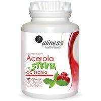 Acerola ze stevią witamina c 120 tabletek do ssania Aliness (5902596935498)