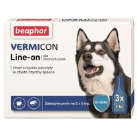 Beaphar  vermicon line- on krople dla psów 15-30kg 3x3ml