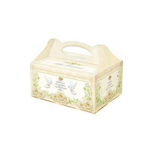 Dp Ozdobne pudełko na ciasto weselne - 1 szt.
