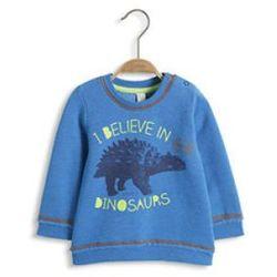 ESPRIT Baby Boy Bluzka z długim rękawem Dinosaurs 430 blue, kolor niebieski