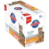 Hills SP Feline Adult Sterilised saszetka 12x370g multipack