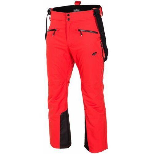 4f Spodnie narciarskie męskie spmn151z - czerwony (5901965728679)