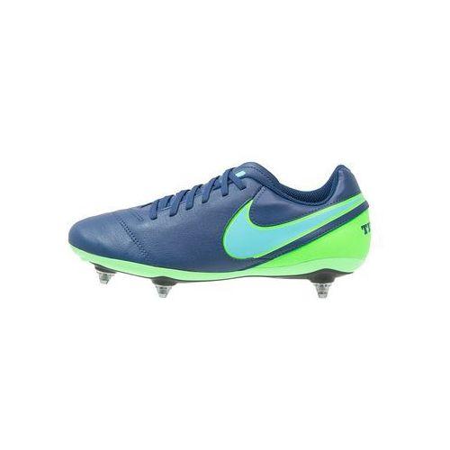 Nike Performance TIEMPO GENIO II SG Korki wkręty coastal blue/polarized blue/rage green