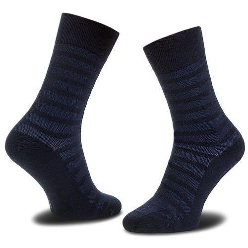 Skarpety Wysokie Męskie JOOP! - Pique Stripe 900.07 Navy 3000, kolor niebieski