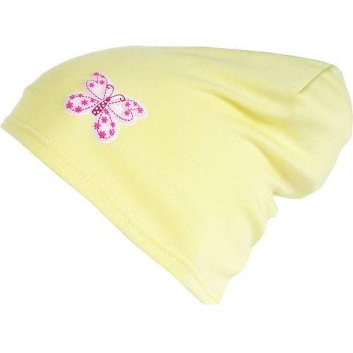 Czapka Dziecięca żółta MOTYL beanie krasnal 40-42 - CD15-3, kolor żółty