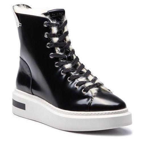 d8e521d684256 Calvin Klein Botki - travis e7507 black/platinum white, Calvin klein, 39-40