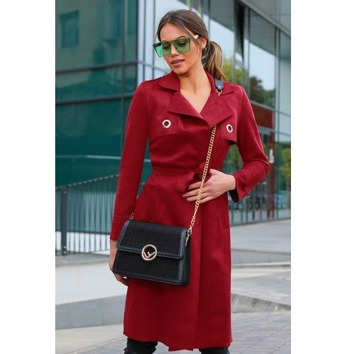 Płaszcz damski LELONA RED, 36-40