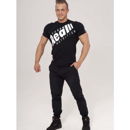 "Real Wear T-shirt ""Sztanga"" Czarny"