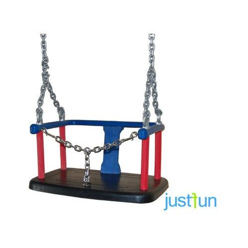Just fun Huśtawka kubełkowa z łańcuszkiem + komplet łańcuchów ocynkowanych 6mm - 1,8 m