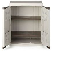 Szafka plastikowa EVO, 90x70x47 cm, szara