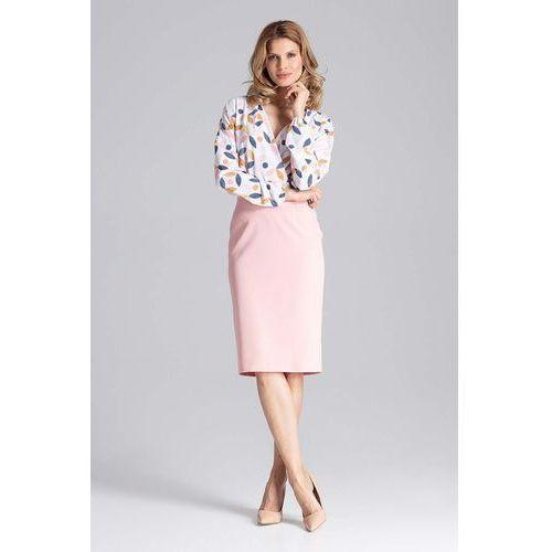 Figl Różowa ołówkowa spódnica za kolano