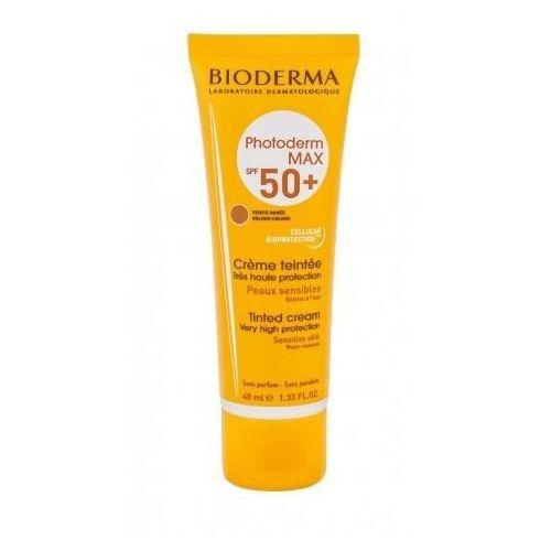 Photoderm max tinted cream spf50+ preparat samoopalający do twarzy 40 ml dla kobiet golden colour Bioderma - Ekstra oferta