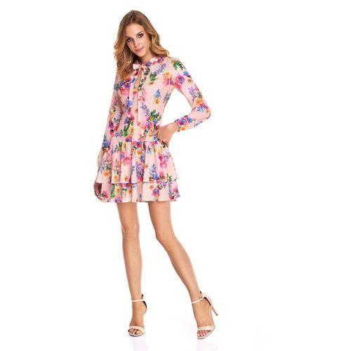 Sukienka betty różowa w jaskrawe kwiaty marki Sugarfree