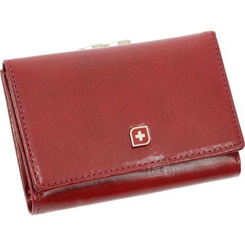 003e0d87b70a8 Genevian Luxury Objects 03-2306-09 portfel skórzany damski - czerwony -  zdjęcie