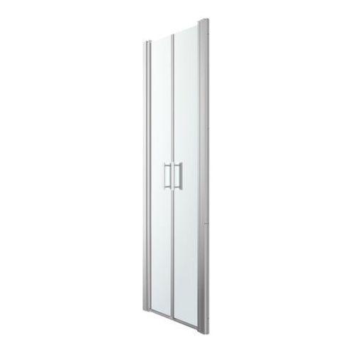 Goodhome Drzwi prysznicowe uchylne podwójne beloya 70 cm chrom/transparentne (3663602944904)