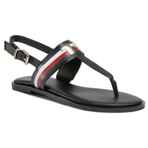 Sandały - corporate letaher fat sandal fw0fw04840 black bds marki Tommy hilfiger
