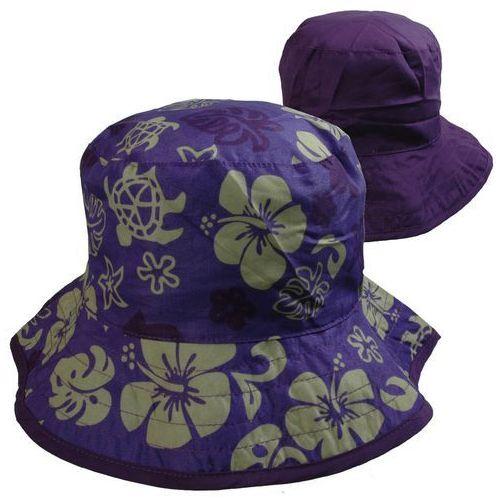 Kapelusz przeciwsłoneczny filtrem UV50 dzieci 0-2l - Purple Floral \ 45-50cm