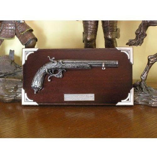 Hiszpania Miniaturka - kapiszonowy pistolet z 1860 r + zawieszka (k305)