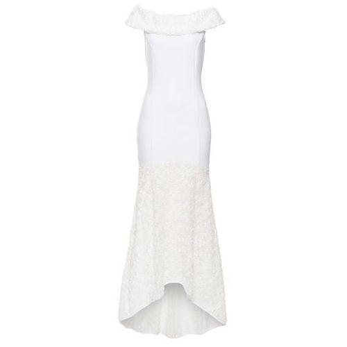 Sukienka ślubna bonprix kremowy, w 8 rozmiarach