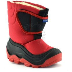 Śniegowce dla dzieci marki renbut / muflon 22-388 - czerwony ||czarny marki Ren but