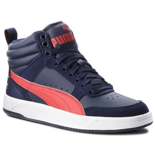Puma Sneakersy - rebound street v2 jr 363916 08 peacoat/rbbn red/white