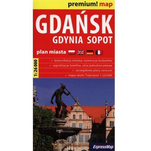 Gdańsk Gdynia Sopot plan miasta 1:26 000 (opr. miękka)
