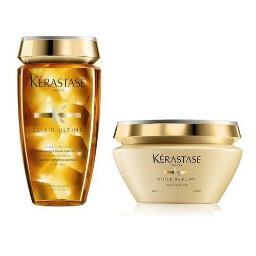 Kerastase elixir ultime oleo complex | zestaw do każdego rodzaju włosów: kąpiel 250ml + maska 200ml