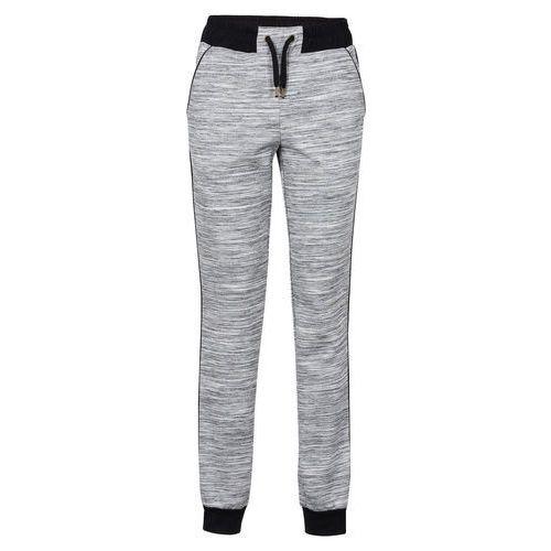 Spodnie dresowe szary melanż, Bonprix, 32-50