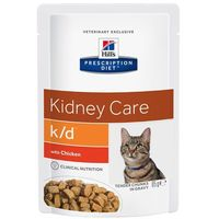 feline k/d kidney care - kurczak, 12 x 85 g marki Hills prescription diet