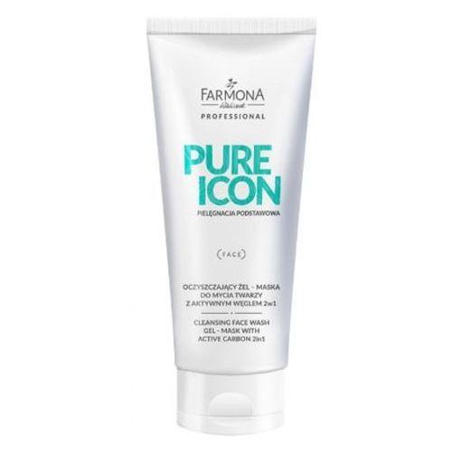 Farmona pure icon oczyszczający żel–maska do mycia twarzy z aktywnym węglem - Genialna przecena