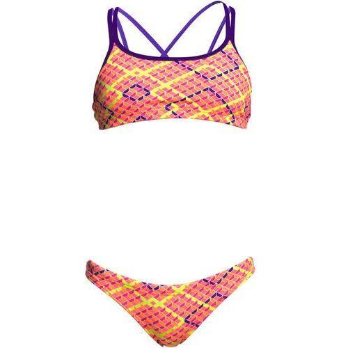 482d9067ff129b Funkita Criss Cross Two Piece Bikini różowy/kolorowy DE 152 / US 26 2018  Stroje