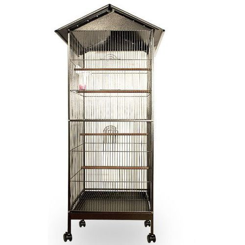 Wideshop Duża klatka woliera dla ptaków ezgotycznych papug
