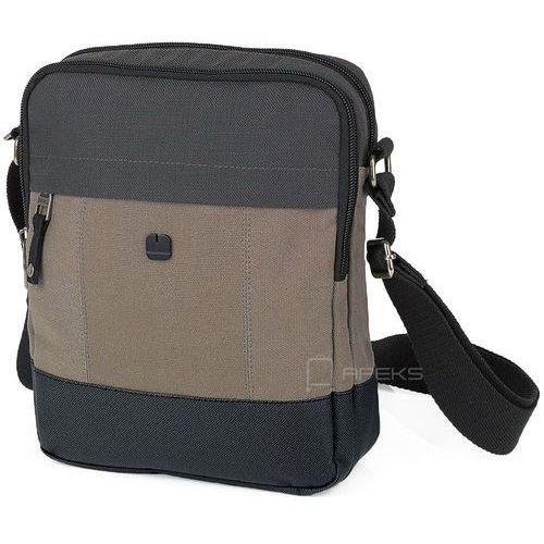 6ed15d41f261e Gabol bond torba męska na ramię 24 cm / szaro - brązowa - zdjęcie