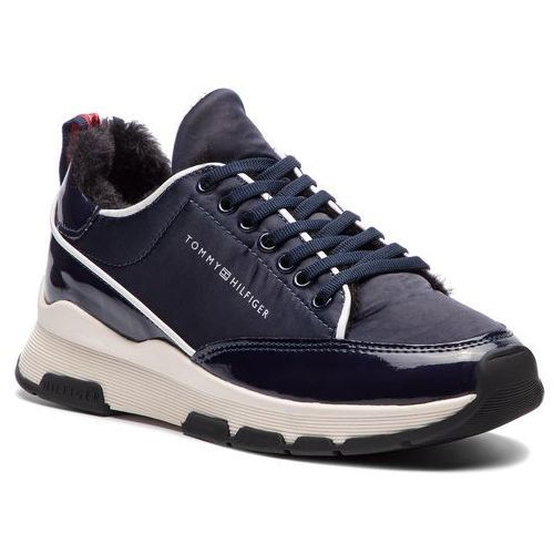 6fa4174950151 Sneakersy - cool technical satin sneaker fw0fw03970 midnight 403 marki Tommy  hilfiger - Zdjęcie