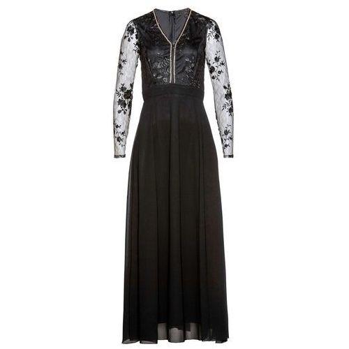 Sukienka plisowana z paskiem bonprix jeżynowy, kolor czarny