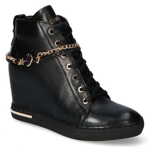 Sneakersy Carinii B5476-E50 Czarne lico