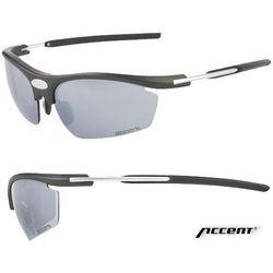 Accent Okulary fever czarny-srebrny / kolor soczewek: nie dotyczy / rodzaj szkieł: standardowe
