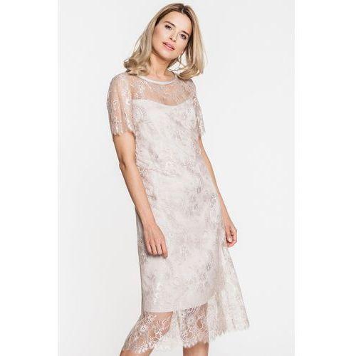 Koronkowa sukienka w kolorze ecru - Paola Collection