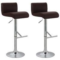 Vidaxl krzesła barowe, z niskim oparciem, brąz, hokery x2 (8718475807902)