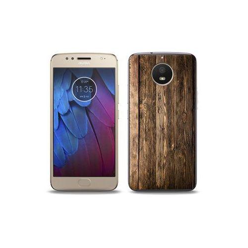 02748cdf7fff Motorola moto g5s - etui na telefon foto case - drewniane deski ...