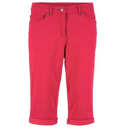 Bermudy dżinsowe ze stretchem bonprix czerwony, bawełna