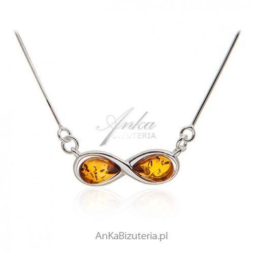 c6b0a8dbdaf2ed Anka biżuteria Ankabizuteria.pl naszyjnik srebrny z bursztynem  nieskończoność - Galeria Anka biżuteria Ankabizuteria.