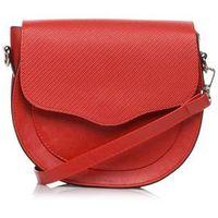 Czerwona zaokrąglona mała torba listonoszka