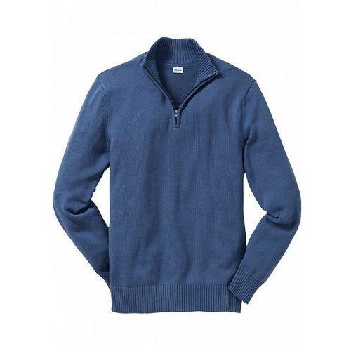 28ed6783fa04 Sweter ze stójką Regular Fit bonprix niebieski dżins