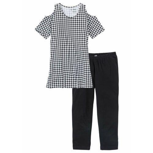 397441a87d8571 Zobacz w sklepie Piżama z legginsami 3/4 bonprix czarno-biały, w 7  rozmiarach