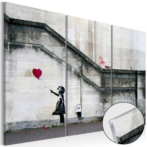 Obraz na szkle akrylowym - Girl With a Balloon by Banksy [Glass]