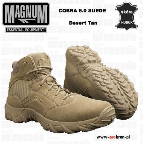 Buty Magnum COBRA 6.0 SUEDE DESERT TAN - pustynne, krótkie, mid, taktyczne, dla służb mundurowych, jasne,