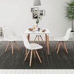 Vidaxl zestaw mebli do jadalni 5 elementów biały stół i krzesła