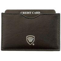 Etui Antykradzieżowe RFID Karty Kredytowe Skórzane - Czarny połysk