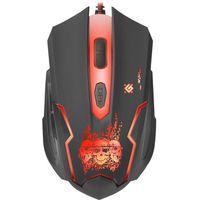 Mysz przewodowa DEFENDER SKULL GM-180L 3200dpi 6P + podkładka Gaming + GRA, 52180